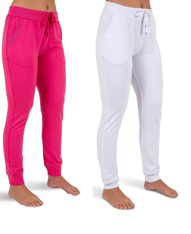 Sexy Basics PANTS レディース 3L 2 Pack - White/ Pink B0779KKNL8