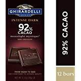 Ghirardelli 巧克力*深色棒,Twilight Delight 72% 可可可,3.5 盎司块 Ghirardelli Moonlight Mystique 92% Intense Dark Bar, 3.17 Ounce (Pack of 12) 12份
