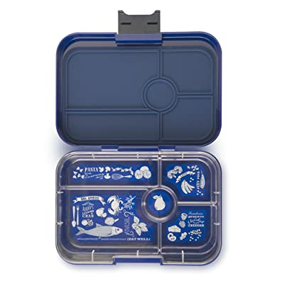 YUMBOX TAPAS Larger Size (Portofino Blue) Leakproof Bento lunch box for Adults, Teens & Pre-teens