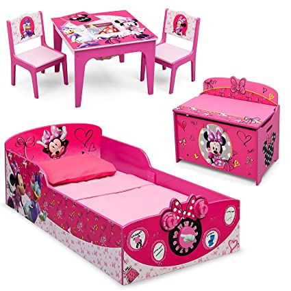 Amazon.com: Delta Children Minnie Mouse Deluxe 3-Piece Toddler ...