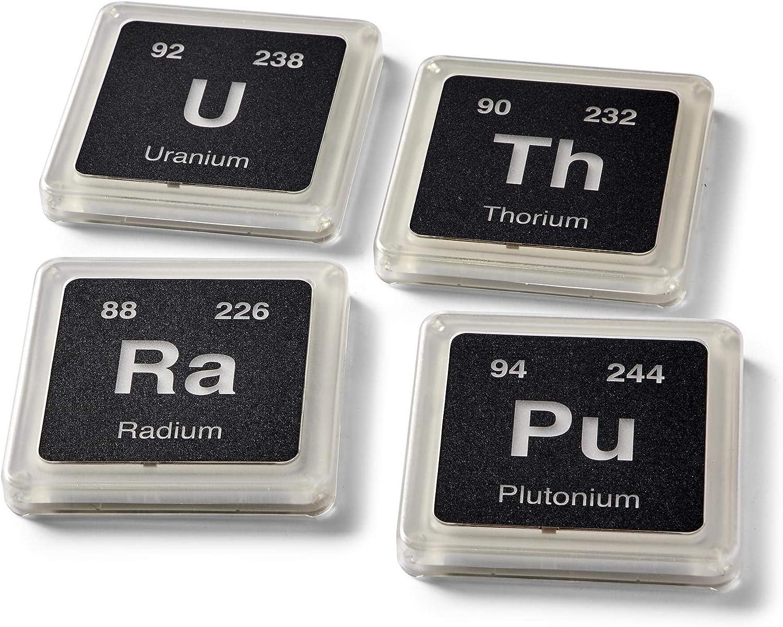 Amazon Com Radioactive Periodic Table Of Elements Plastic Glowing Coaster Set Pressure Sensitive Light Up Coaster Collection Set Of 4 Coasters
