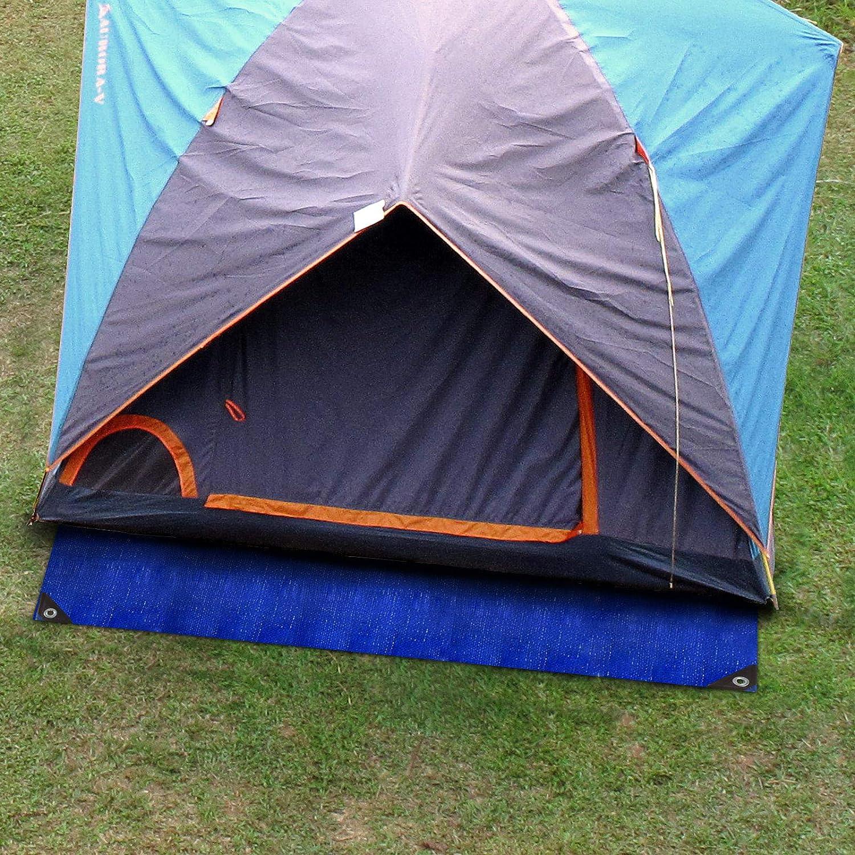 env B/âche de protection casa pura/® en poly/éthyl/ène 3x4m Bache imperm/éable /à leau et aux UV Bache /épaisse densit/é moyenne 80g//m/² Bleu-Orange