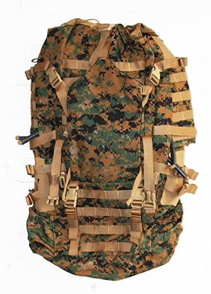 a20ba7ed29 Amazon.com: USMC Field Pack, MARPAT Main Pack, Woodland Digital Camouflage,  Spare Part, Component of Improved Load Bearing Equipment (ILBE): Everything  Else