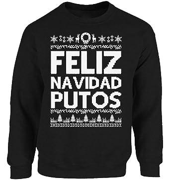 Vizor Feliz Navidad Putos Ugly Christmas Sweatshirt for Men and Women Feliz Navidad Putos Christmas Sweater