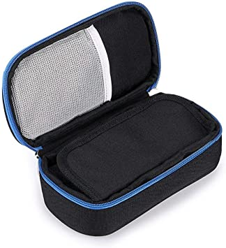 Vianber Bolso portátil del refrigerador del organizador de la insulina, bolso del refrigerador del viaje de la caja del protector médico para el diabético (Negro): Amazon.es: Salud y cuidado personal