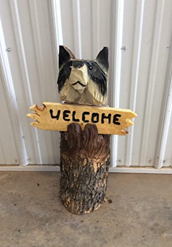 Amazon.com: handcrafted chainsaw carved log raccoon: handmade