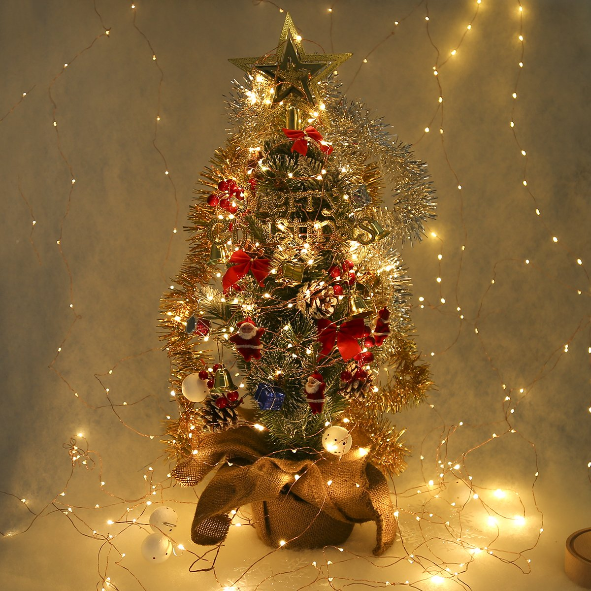 ECOWHO 6.5M 30 LEDs Lampions Laterne Lichterkette Wasserdicht Solar Lichterkette aussen f/ür Party Weihnachten Garten Au/ßen /& Ihnen Bunt Solar Lichterkette Solar Lichterkette Lampions Warmwei/ß)