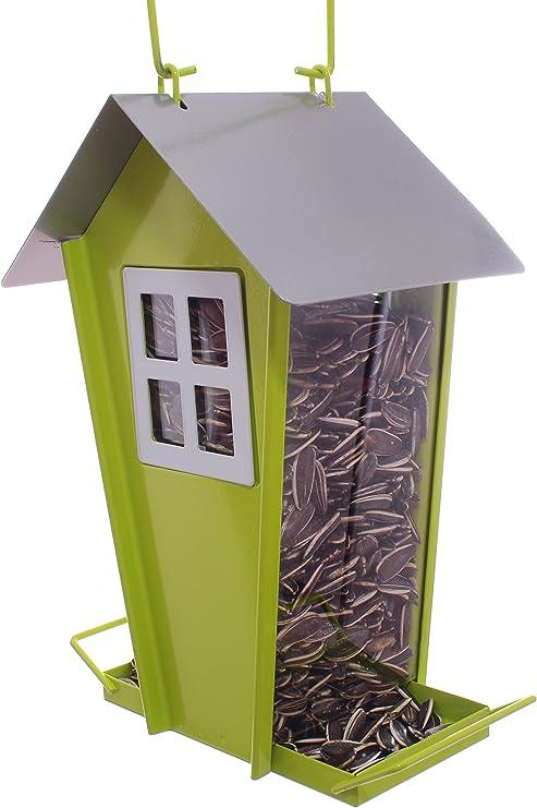 CHILIPET El Alimentador de Aves Silvestres en Forma de Granero de Semillas, Decoración del Jardín, Comedero para Aves Pequeñas y Medianas, Fácil de Limpiar y Llenar: Amazon.es: Jardín