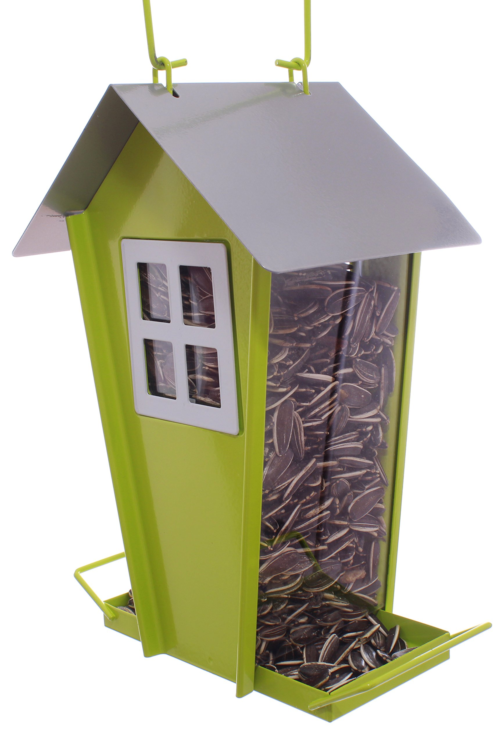 Barn Shaped Wild Bird Feeder Attract More Birds Perfect for Garden Decoration, Great Bird Feeders for Small & Medium Birds, Easy to Clean and Fill Bird Feeder Hanger Included Great Gift & Fun Idea!