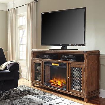"Amazon.com: Ashley Tamonie W830-68 72"" Extra Large TV Stand ..."