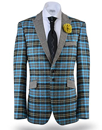 Men's Plaid Blazer Jacket Sport Coat Marco at Amazon Men's ...