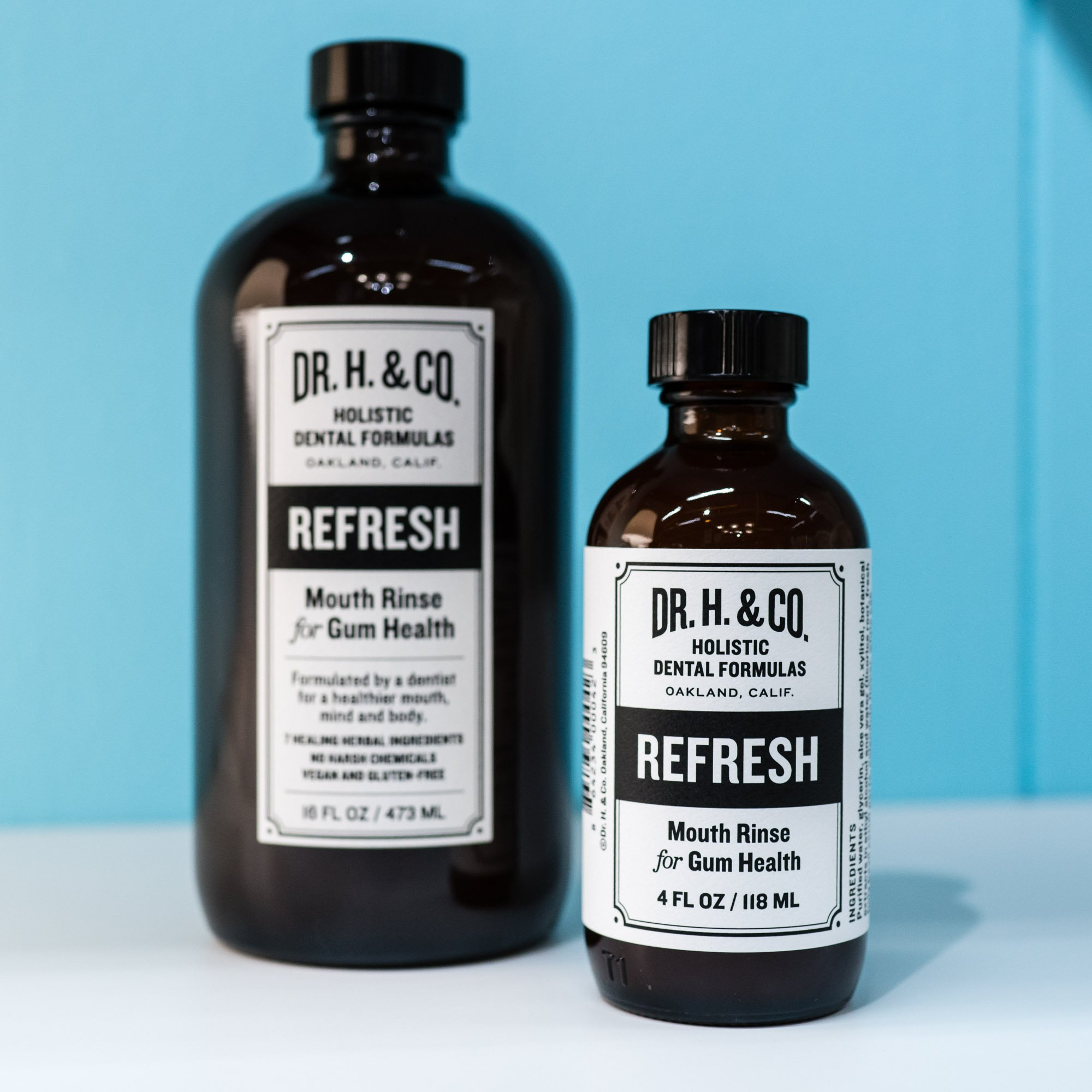 Dr. H. & Co. Dentist Formulated Refresh Mouthwash Ð All Natural Herbal and Holistic Mouth Rinse for Healthy Gums and Teeth (4 oz Glass Bottle) by Dr. H. & Co. (Image #5)