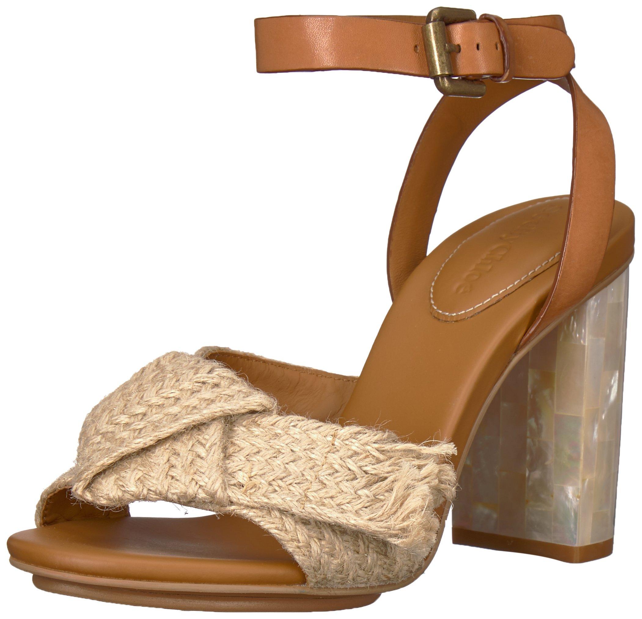 See By Chloe Women's Isida Jute Heeled Sandal, Natural, 39.5 M EU (9.5 US)