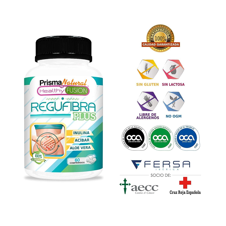 Potente Probiótico con Aloe Vera e Inulina [10 mil millones UFC] – Regula el tránsito intestinal y Mejora la digestión – Previene el estreñimiento – ...