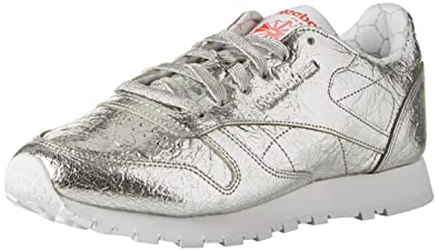 Reebok Women's Classic Leather Hd Trainers, Silver (Silver