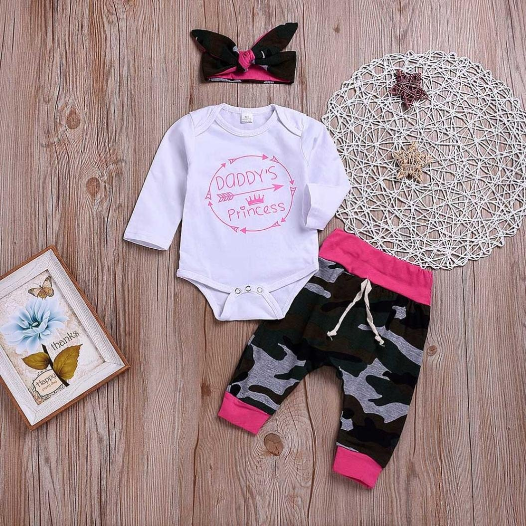 08fc0f096 Amazon.com  Hatoys 3PCS Newborn Baby Girls Boys Arrow Letter Print ...