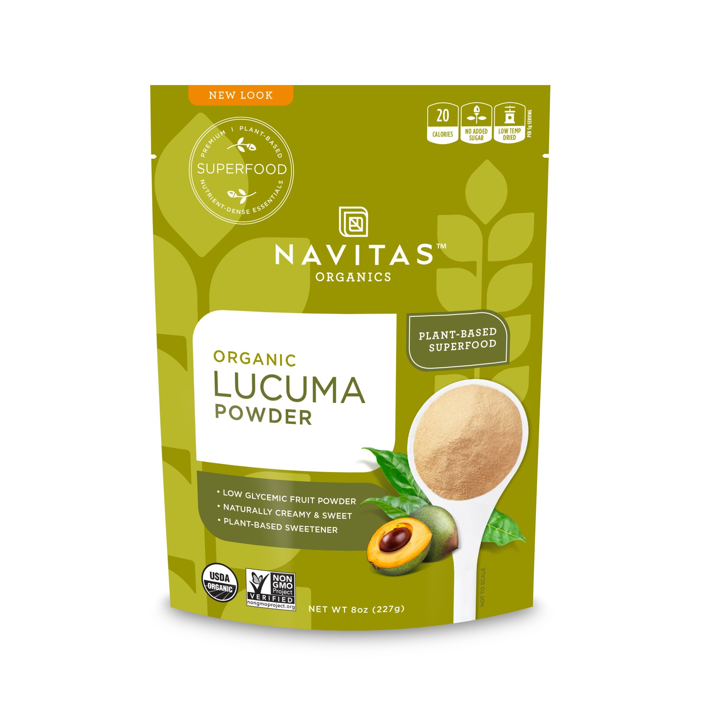 Navitas Organics Lucuma Powder, 8 oz. Bags (Pack of 2) - Organic, Non-GMO, Gluten-Free by Navitas Organics