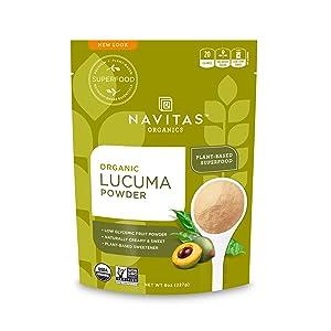 Navitas Organics Lucuma Powder, 8 oz. Bags (Pack of 2) — Organic, Non-GMO, Gluten-Free