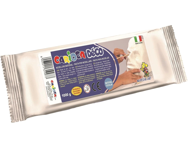 30997//31 Pasta Modellante Simile allargilla 1000 g Carioca-30997//31 Colore: Bianco