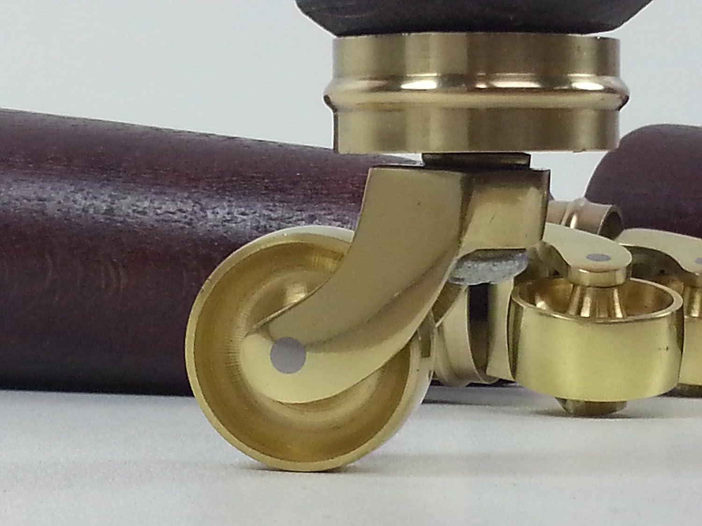 170mm HEIGHT 4x FURNITURE LEGS FEET /& BRASS CASTOR  SETTEE CHAIR 10mm SOFA M10