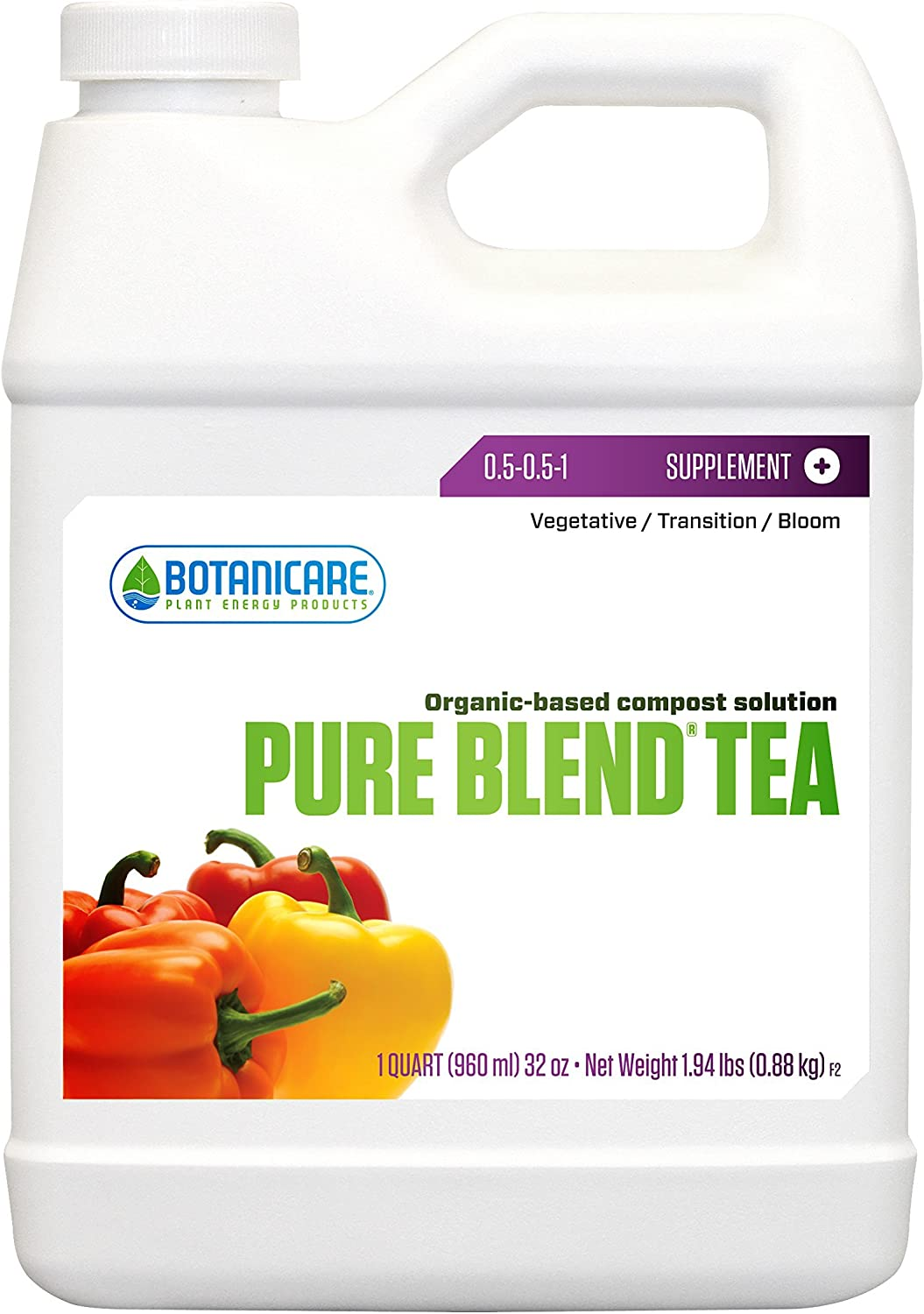 Botanicare PURE BLEND TEA Organic-Based Compost Solution, 1-Quart