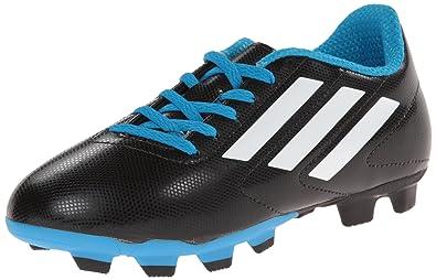 newest 4ef78 47a16 adidas Performance Conquisto Firm-Ground J Soccer Cleat ,BlackWhiteSolar  Blue