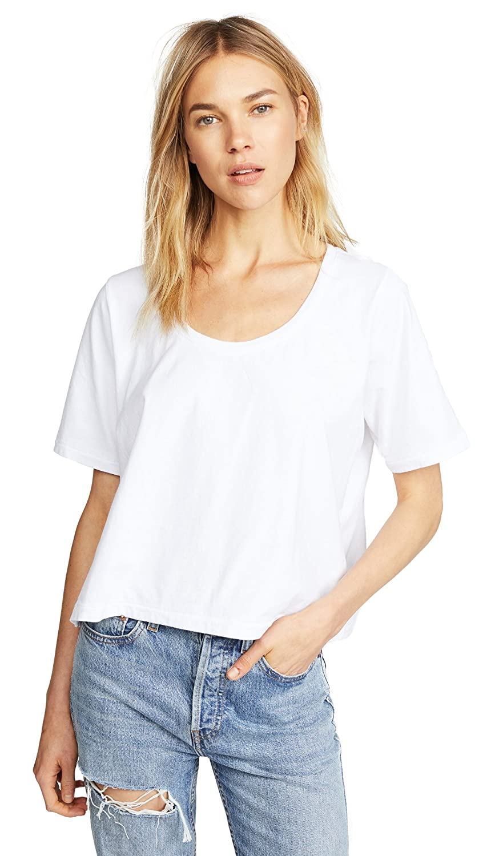 8bd585793f1184 Amazon.com: Three Dots Women's Boxy Tee, White, Large: Clothing