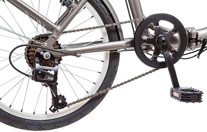 Schwinn Loop - Bicicleta Plegable de 50,8 cm, Color Titanium ...