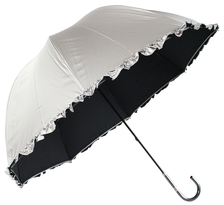 晴雨兼用 日傘 かわいいドーム型 フリル付
