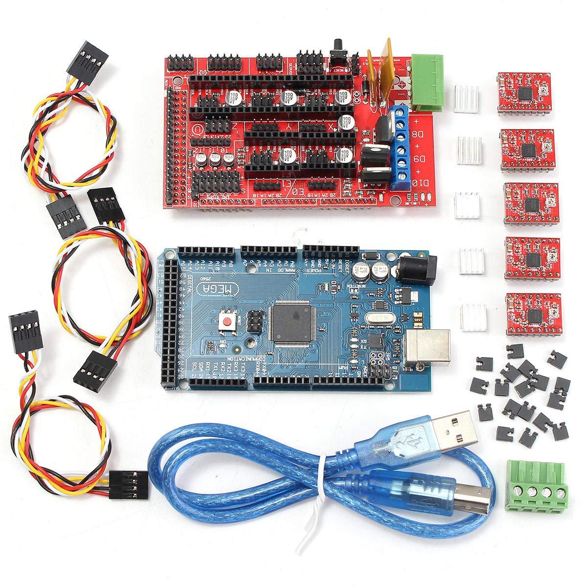 RAMPS 1.4 + Mega2560 + 5xA4988 Controlador 3D Kit de ...