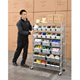 Seville Classics Commercial 7-Tier Platinum/Gray