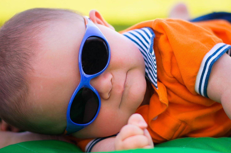 cinta extraible Azul//verde Gafas de sol Real Shades Kids Explorer 0-2 a/ños