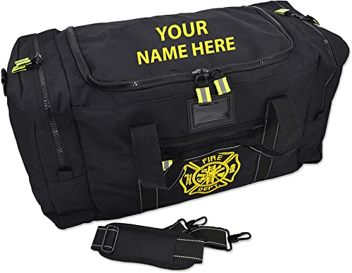 Lightning X Value Firefighter Turnout Gear Bag w Maltese Cross and Custom Embroidered Name – BLACK
