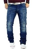 RedBridge Herren Jeans Mens Pants Denim Freizeit-Hose Sweatpants Vintage Blau