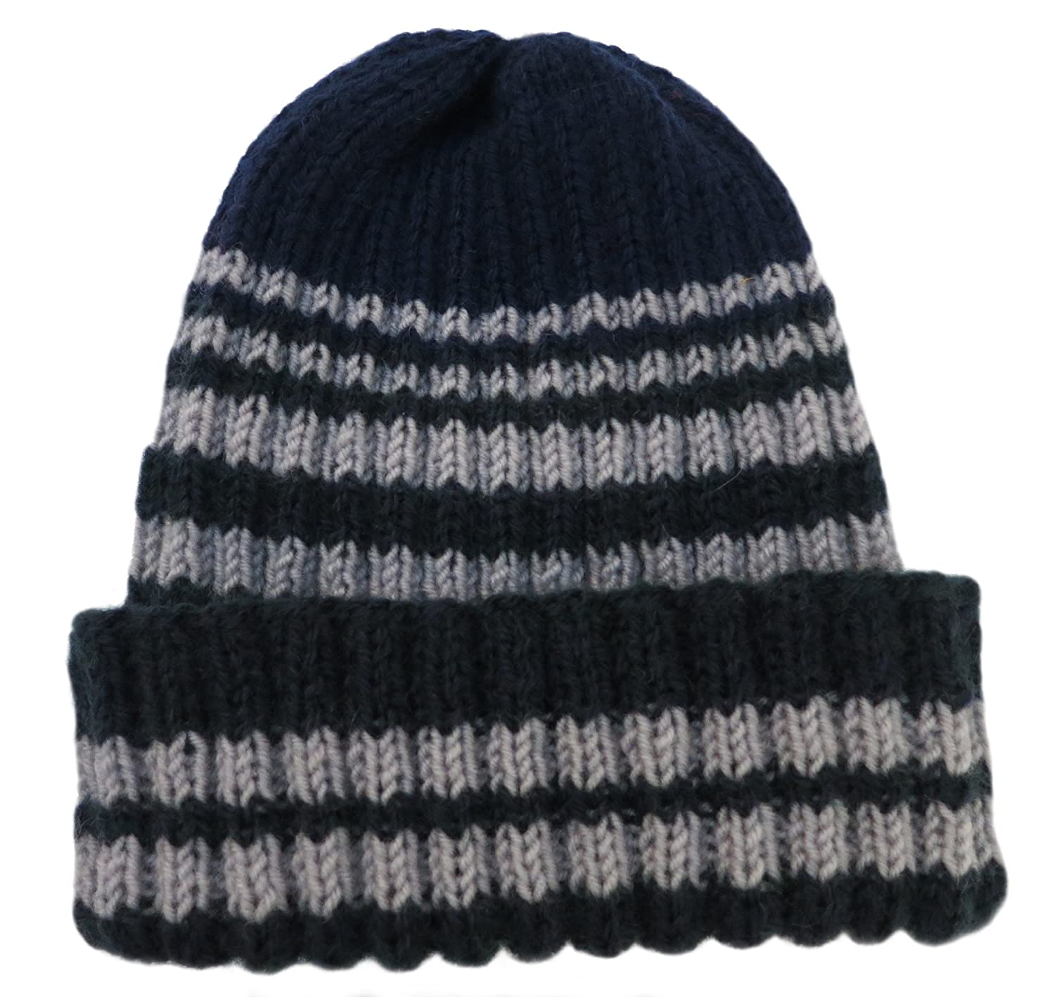 dc8612701f2 Amazon.com  Knitted by Hand Pure Alpaca Wintery Hat for Boys (Made to Order  in any Color!)  Knit Caps  Clothing