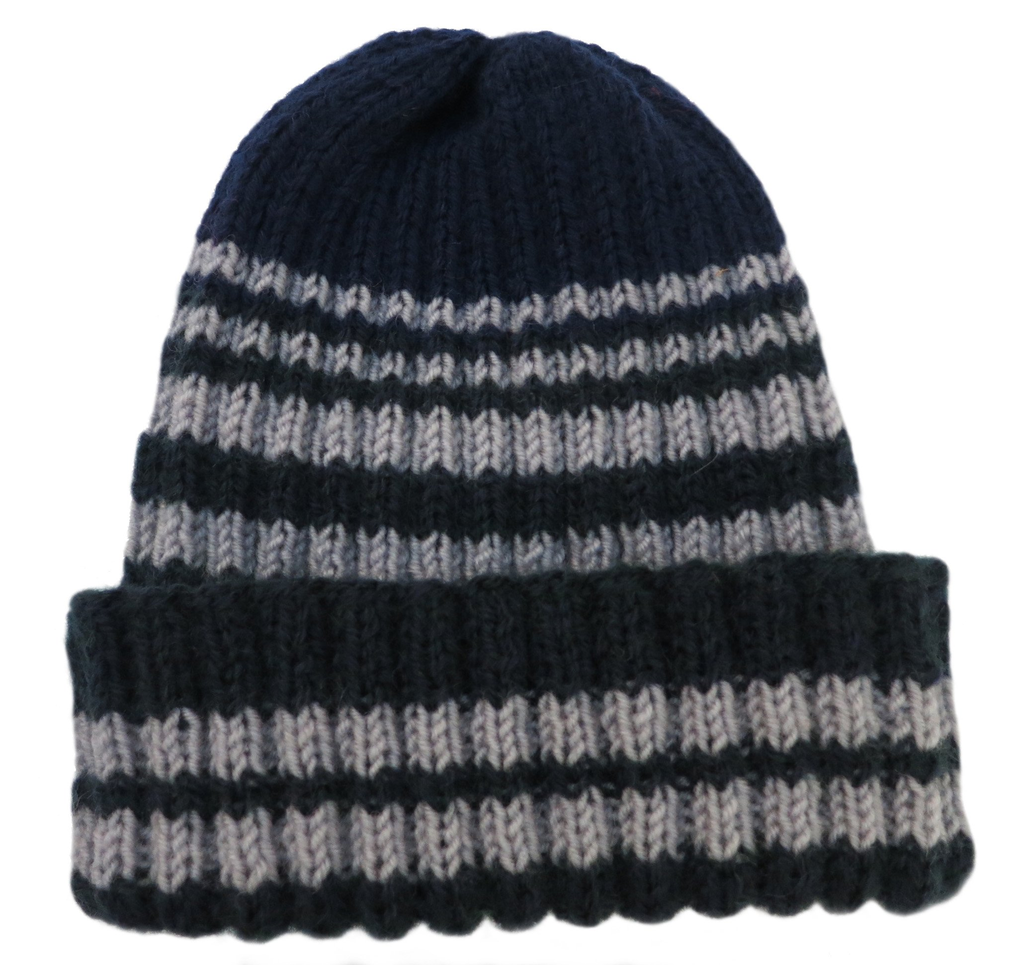 Knitted by Hand Pure Alpaca Wintery Hat for Boys (Made to Order in any Color!)