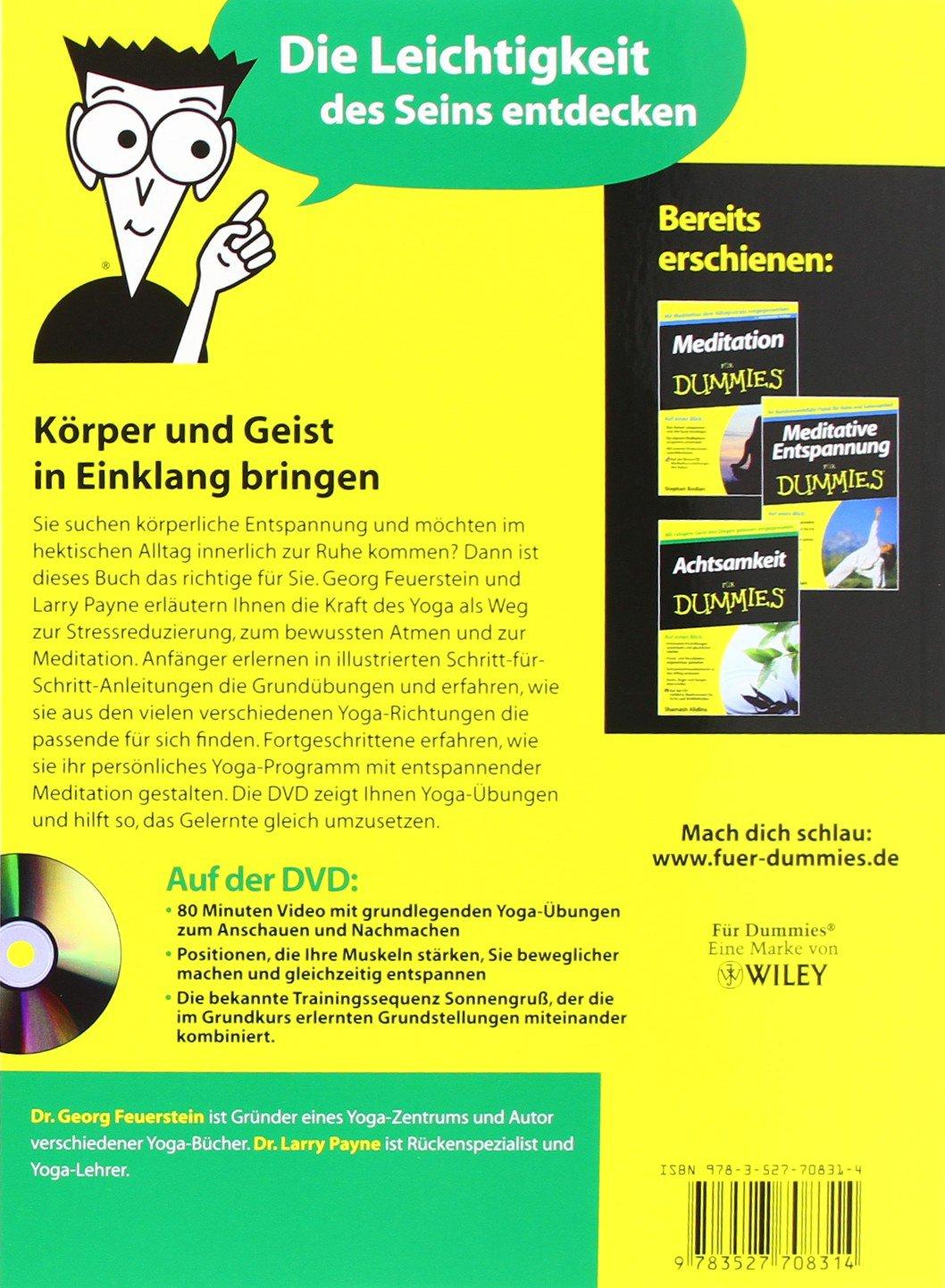 Yoga für Dummies mit Video-DVD (Fur Dummies): Amazon.es ...