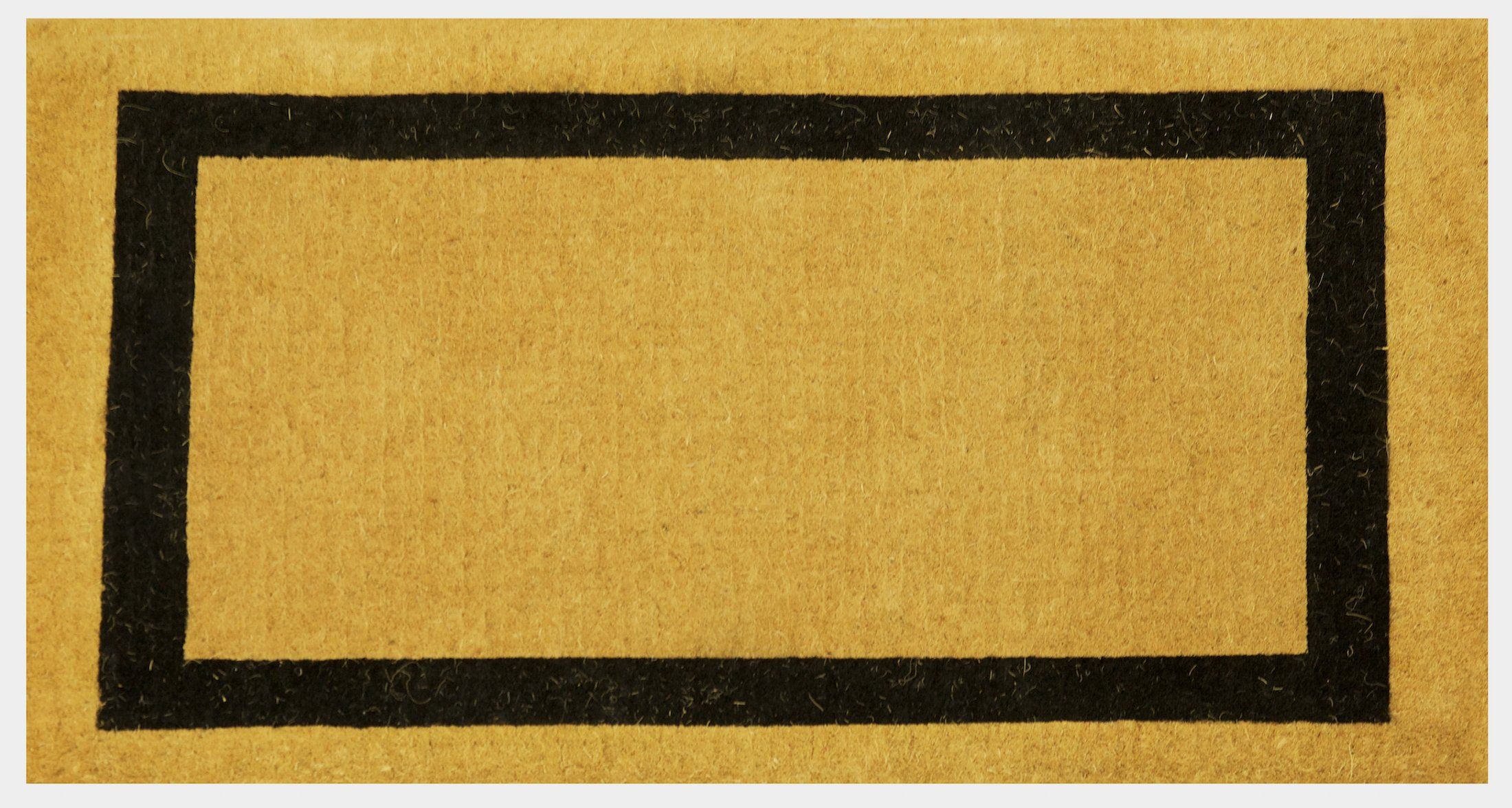 Extra Thick Handwoven Classic Black Border Large Coco Coir Welcome Doormat , Various Sizes (36 x 60 Inches)