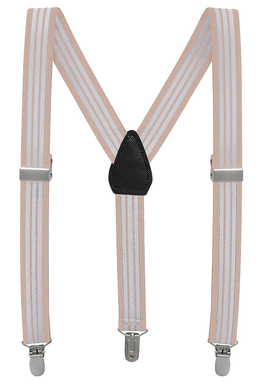 Buyless Fashion Pantaloni Con Bretelle di Sostegno a Y Posteriore da Bambino e Bebè 2, 5 cm Regolabili ed Elastici– Con Ganci Forti e Resistenti
