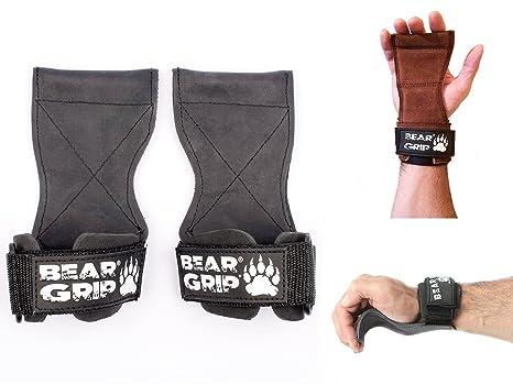 Bear Grip - Guantes para levantamiento de pesas, con correas y ...