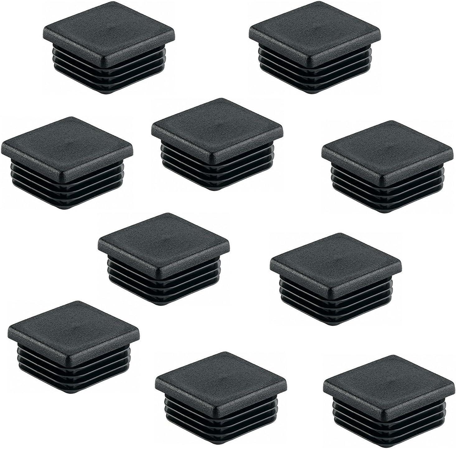 4 St/ück GedoTec PE Topes tubo Tapas para pie negro de pl/ástico para Tubo cuadrado Cosas de tubo rectangular cuadrado Tapones de l/ámina 100 x 100 mm Calidad de marca para su Sala de estar