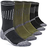 CQR (Pack of 3, 5) Men's Multi Performance Outdoor Sports Hiking Trekking Crew Socks