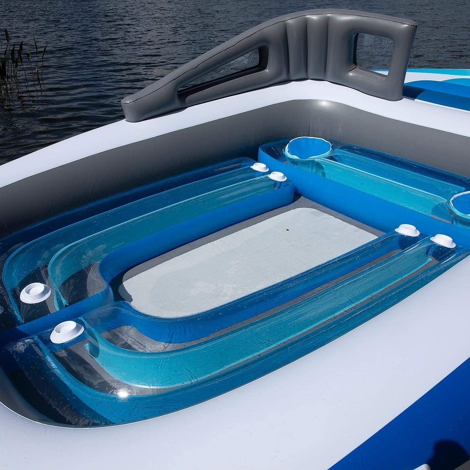6-Person Inflatable Bay Breeze Boat Island Party Island