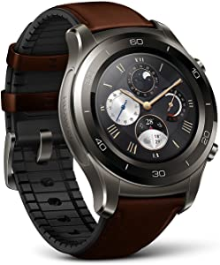 Huawei Watch 2 Classic Smartwatch - Ceramic Bezel- Brown Leather Strap(US Warranty)