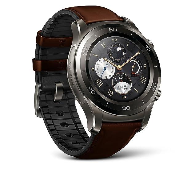 2068923285 Amazon.com: Huawei Watch 2 Classic Smartwatch - Ceramic Bezel- Brown ...