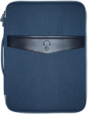 Documents Travel and Office By Mygreen Pens Multi-functional Business A4 Document Bags Waterproof Oxford Files Organizer Travel Gear Organizer Zippered Case for Ipads Dark Blue Notebooks