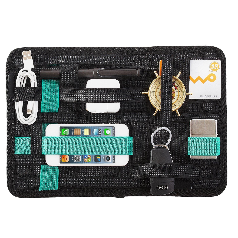 32ac0b08e53b LZVTO Elastic Organizers Board Travel Electronic Accessories Case ...