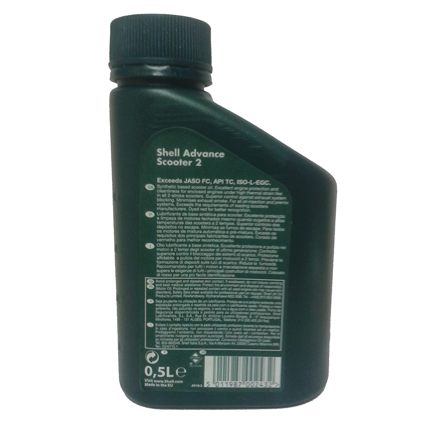 Shell Advance 2 Stroke Semi Aceite sintético 500 ml, Patinete ...