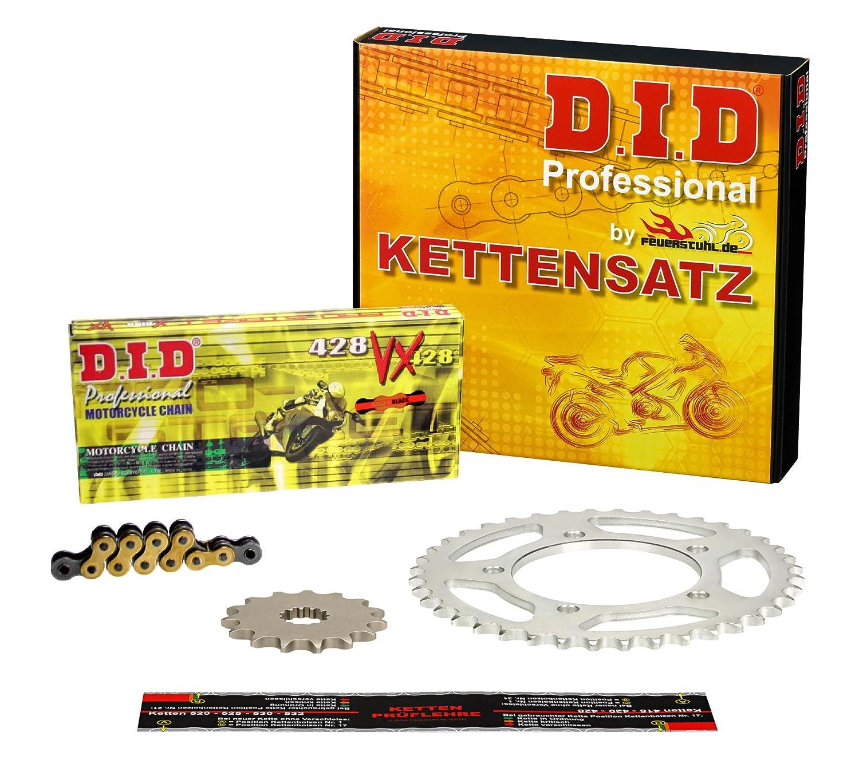 VX gold Kettensatz // Kettenkit Yamaha WR 125 R Typ DE07 2009-2013 extra verst/ärkt DID X-Ring