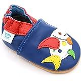 Dotty Fish Zapatos de Cuero Suave Para Bebés - Niños y Niñas - Rojo con el Reno - 27 xu90dWAd6V